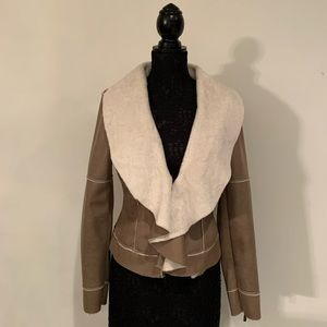 Guess Faux Suede and Sherpa Jacket Sz L